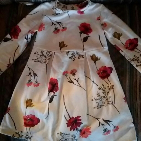 e72df114df18a7 Old Navy Dresses | Toddler Girl Fleece Lined Floral Dress | Poshmark